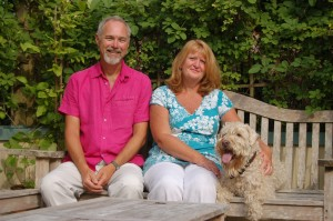 Me and my wife Lynda Mutch (homeopath) and our dog
