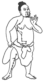 Ancient Chinese Acupuncture Meridian Drawing